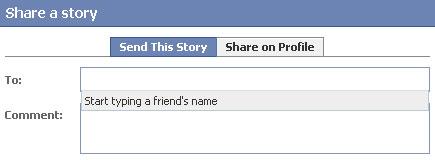 Compartir noticias en Facebook