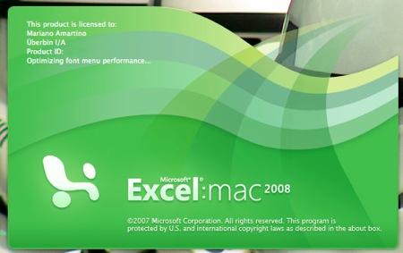 Excel 2008 para mac