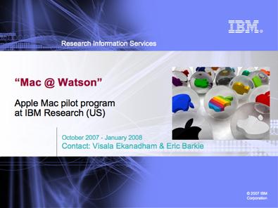Apple llega a IBM