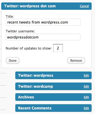 Poner Twitter en WordPress