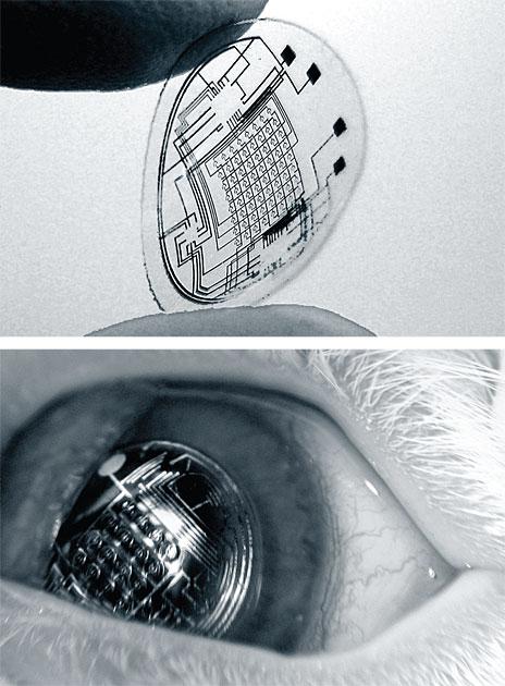 Realidad aumentada en un lente de contacto