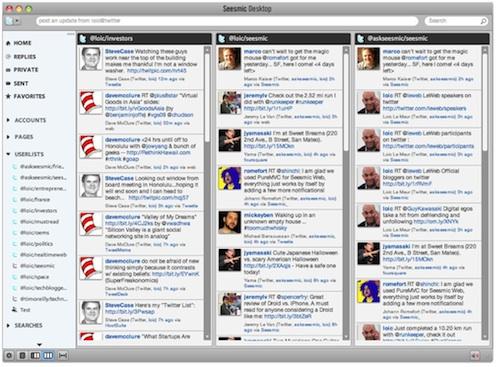 listas de twitter en seesmic