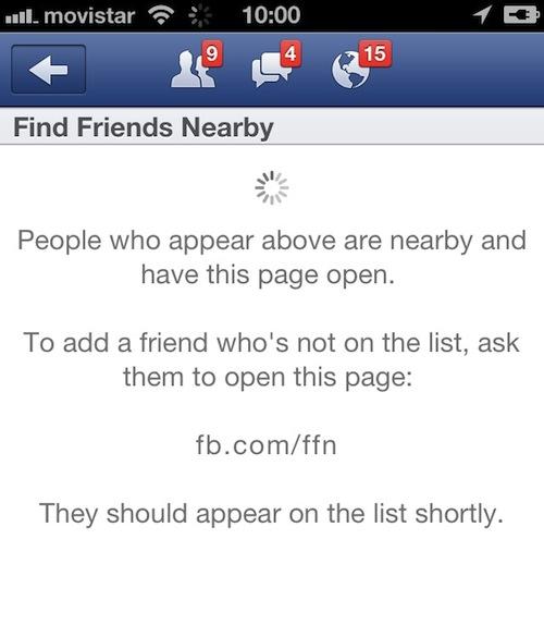 facebook encuentra amigos cerca