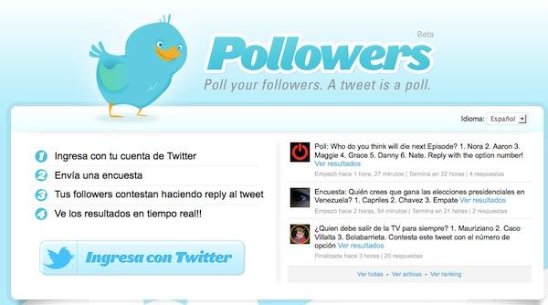 pollowers encuestas en tuiter