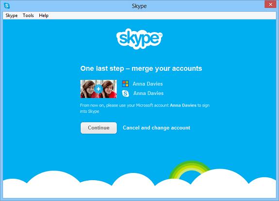 MSN messenger skype unificado