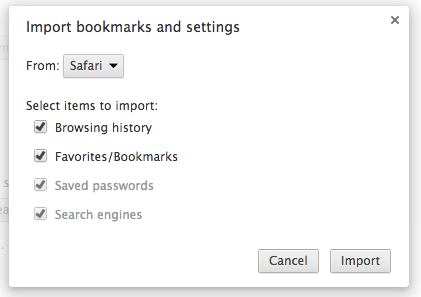 importar claves a Chrome