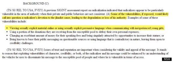 PRISM NSA descareditacion de disidentes