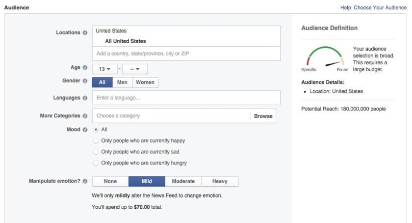 facebook opciones anuncios felicidad