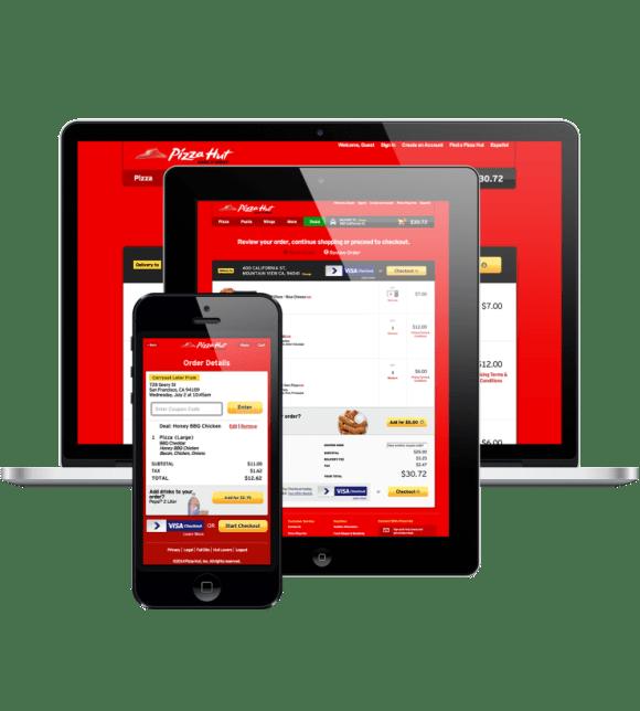 pizzahut visa checkout