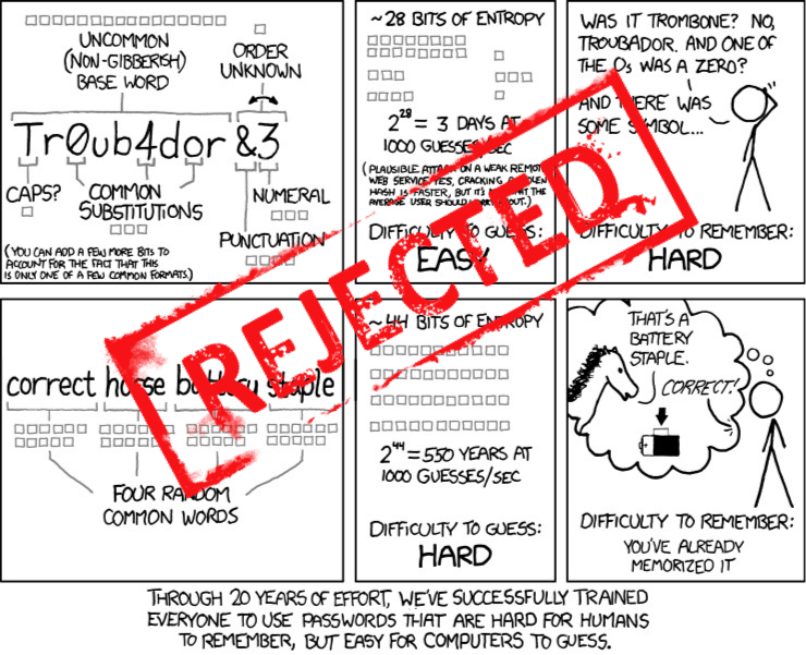 xkcd passwords mal hecho