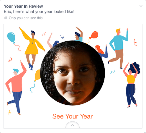 el año en facebook