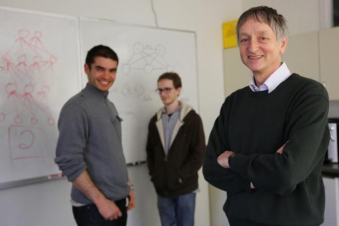 Geoffrey Hinton, Alex Krizhevsky, and Ilya Sutskever (left) will do machine-learning work at Google. Photo: U of T