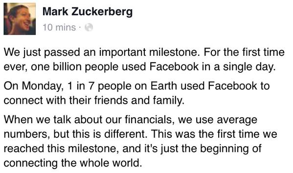 mil millones en facebook