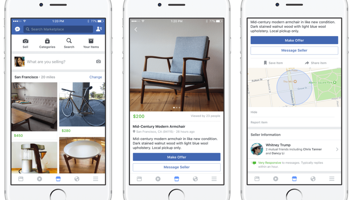 Facebook Marketplace compra y venta