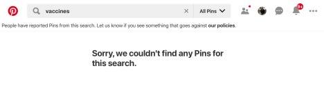Pinterest vacunas y censura