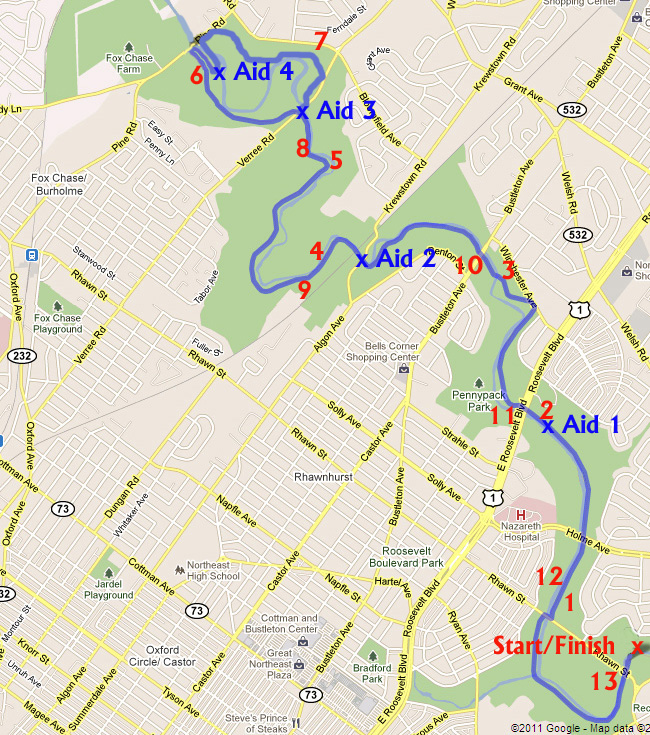 1/2 sauer 1/2 kraut half marathon course map