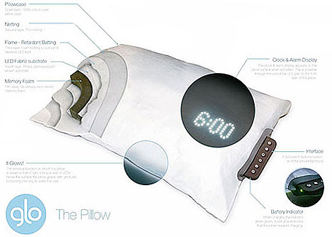 Glo Pillow offers gentle wake up call