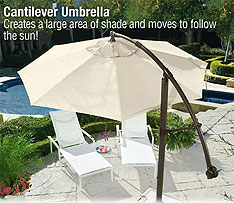 Cantilever Umbrella follows the sun