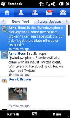 Microsoft dévoile l'app Facebook version 1.2