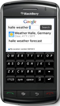 App Google Mobile pour le BlackBerry Storm