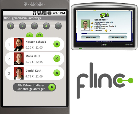 Flinc: Mobile Location-based App for Dynamic RideSharing