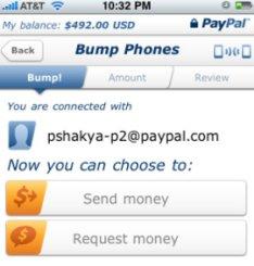 Fonctionnalité PayPal Bump sur Android et BlackBerry