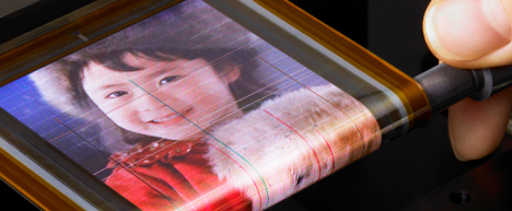 Sony Develops An  Ultra-thin Rollable OLED Display