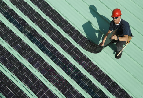 SoloPower offers flexible solar panels on rooftops