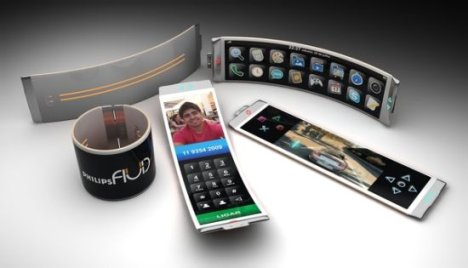 Concept: Philips Fluid Smartphone With Flexible OLED Display
