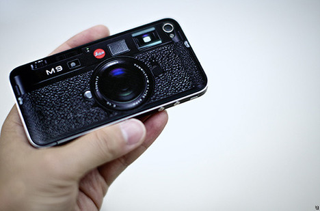 iPhone looks like Leica M9 with sticker