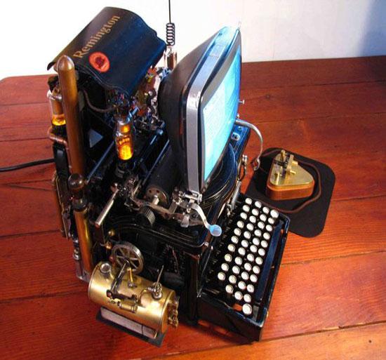 Wozniak's Conundrum steampunk Mac has ancient keyboard