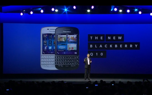 BlackBerry Q10 Available On Verizon, Sprint, T-Mobile This