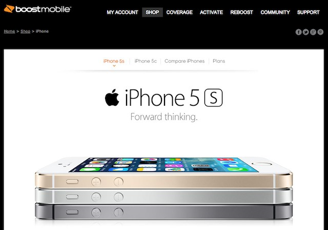 Boost Mobile iPhone 5s, iPhone 5c Pricing Revealed | Ubergizmo