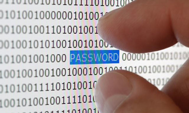 Password security stock picture