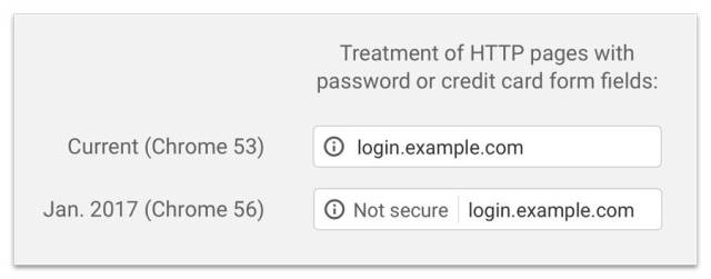 http not secure google