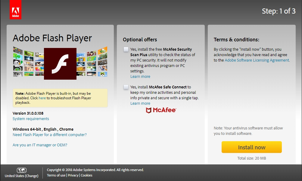 install adobe flash player for firefox linux