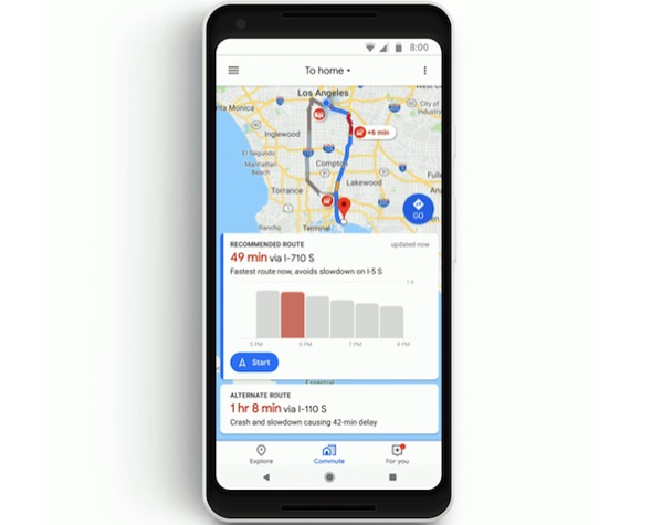 Google Maps Gets New Features For Commuting And Music