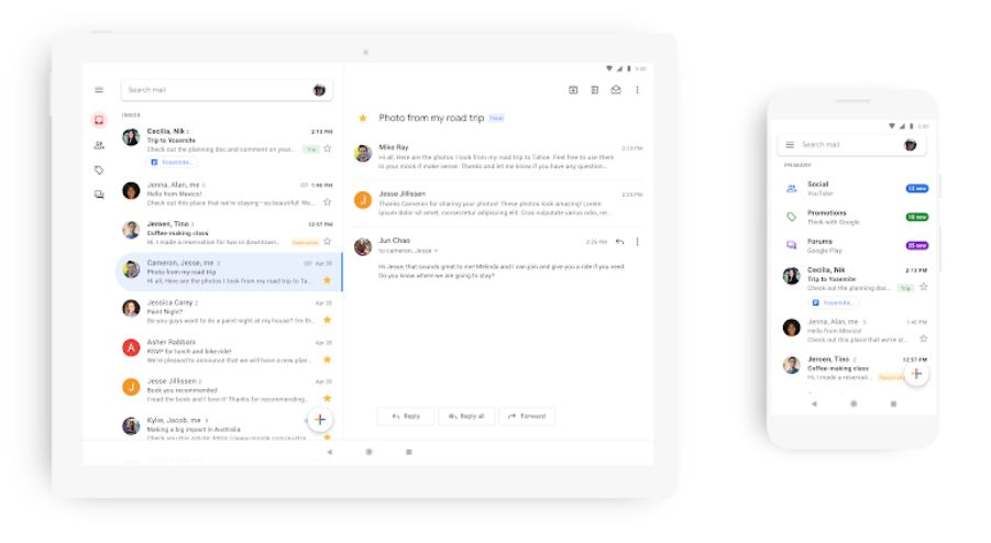 Google Rolling Out Material Theme For Gmail On iOS, Android
