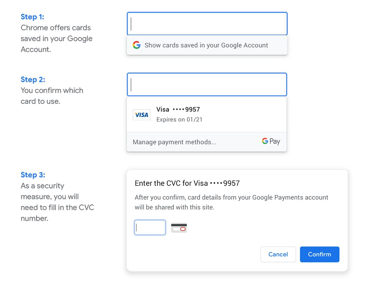 Chrome Can Now Autofill Your Credit Card Details Without Syncing