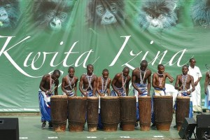 Traditional Rwandan drummers are usually part of the celebrations