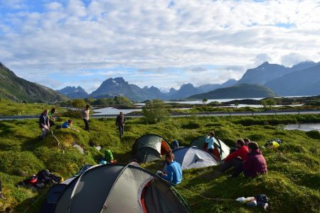 Wild Camping in the Lofoten Islands. Photo -- Adam Dawson