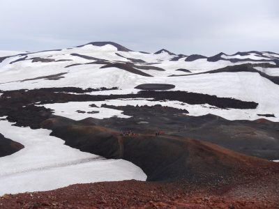 Lava fields on the pass between the Eyjafjallajökull and Mýrdalsjökull glaciers, A Waldron