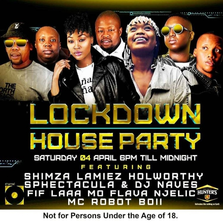 Watch Shimza, Sphectacula, DJ Naves, Mo Flava, Njelic, Lamiez Holworthy Lockdown House Party On Channel O