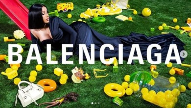Photo of Cardi B Glitters In Balenciaga Winter Ad Campaign