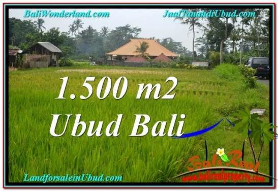 Exotic PROPERTY Ubud Tampak Siring 1,500 m2 LAND FOR SALE TJUB558