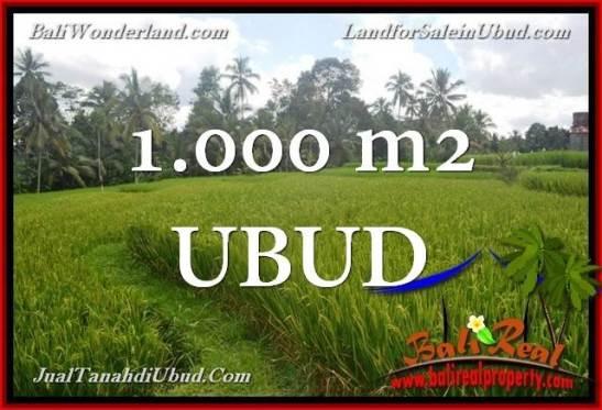 Exotic PROPERTY Ubud Tegalalang 1,000 m2 LAND FOR SALE TJUB653