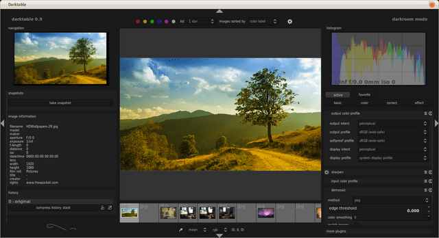 Darkable screenshoot Darktable : Alternativa libre a Adobe Lightroom para Ubuntu