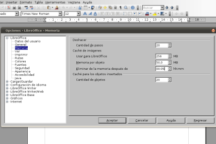 Optimizar arranque de LibreOffice