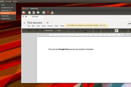 GWoffice: Google Drive en tu escritorio Ubuntu