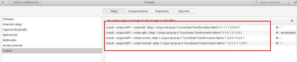 configurar teclado linux